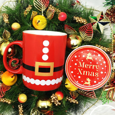 Christmas SC800NB Red - Christmas Ceramic Mug Red Set with Special Box