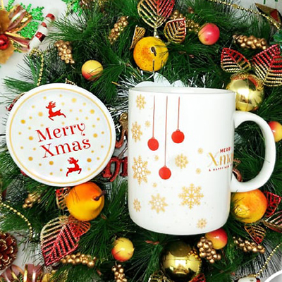 Christmas SC800NB Creamy - Christmas Ceramic Mug Creamy Set with Special Box