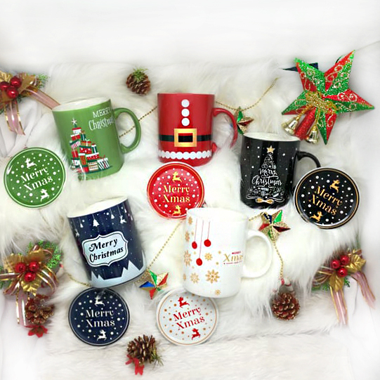 Christmas SC800NB Set of 5 - Christmas Ceramic Mugs Set of 5 Design each